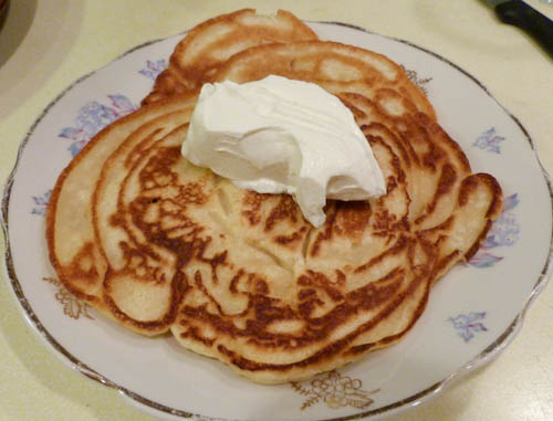 oladi russian buttermilk pancakes everyday russian food. Black Bedroom Furniture Sets. Home Design Ideas